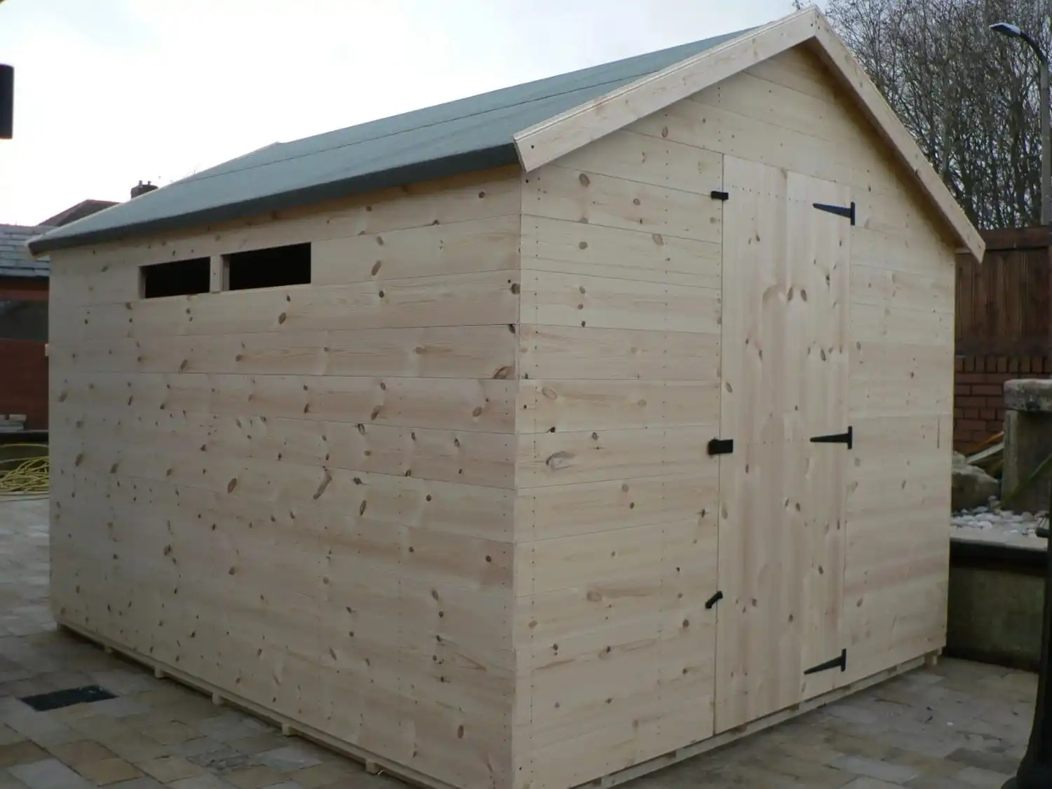 10' X 8' Apex Shed Security Windows