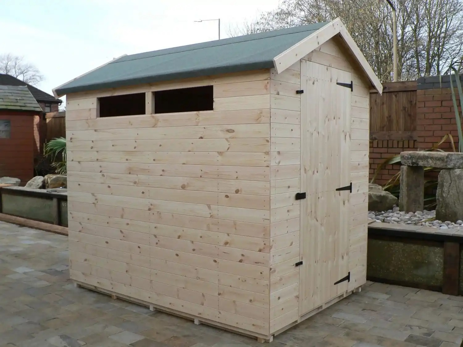 7' X 5' Apex Shed Security Windows