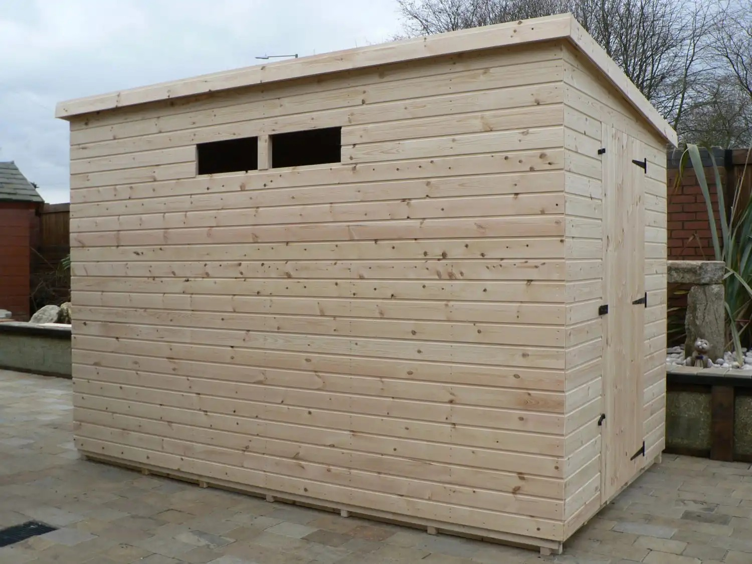 10' X 6' Pent Shed Security Windows