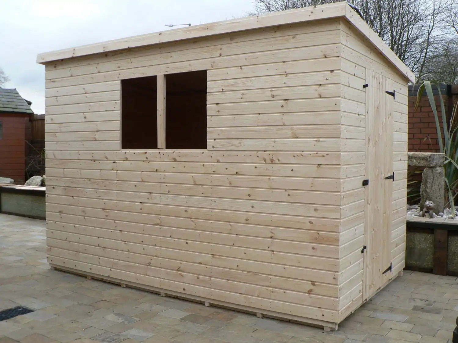 10' X 6' Pent Shed Full Size Windows