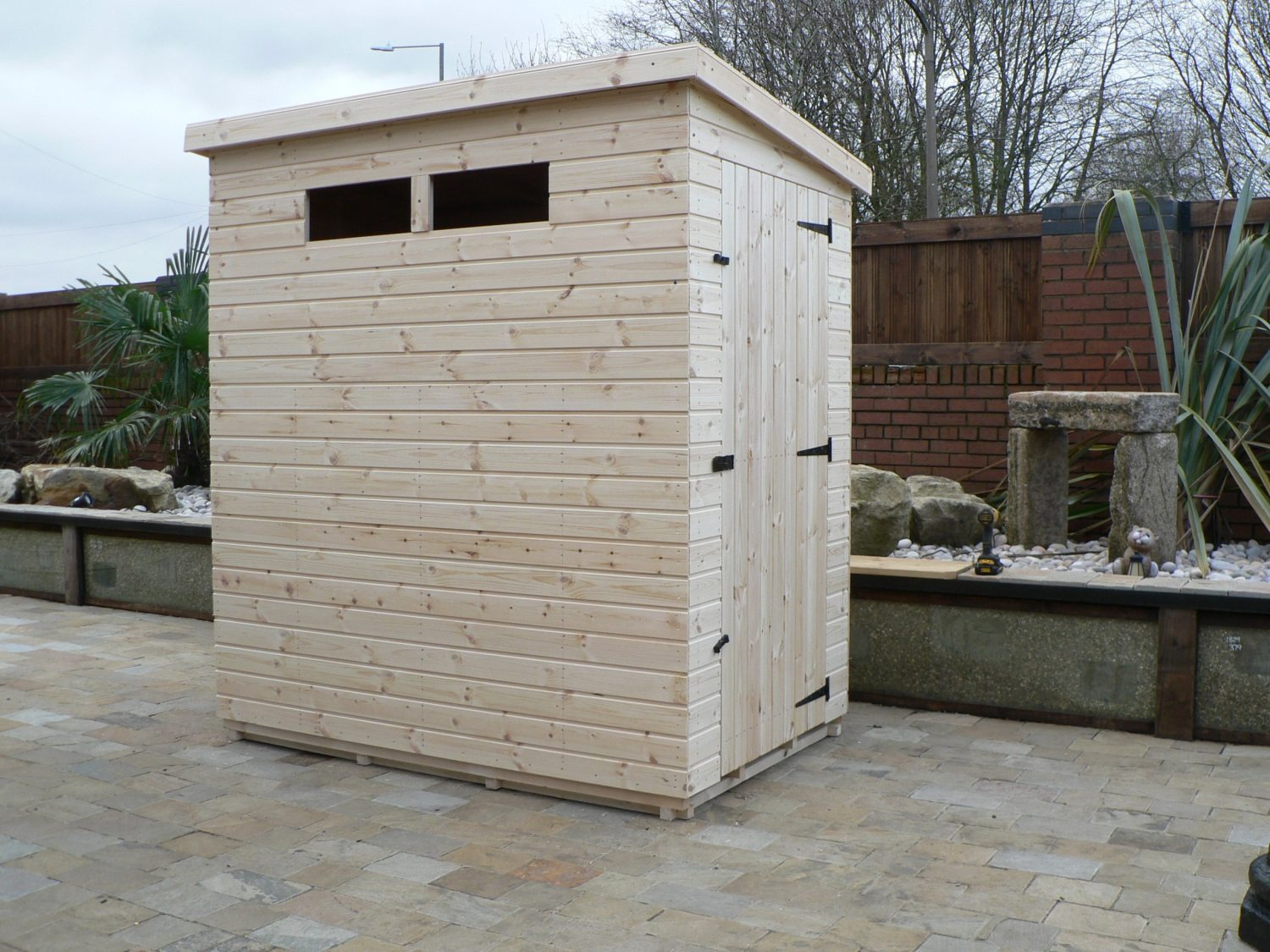 6' X 4' Pent Shed Security Windows