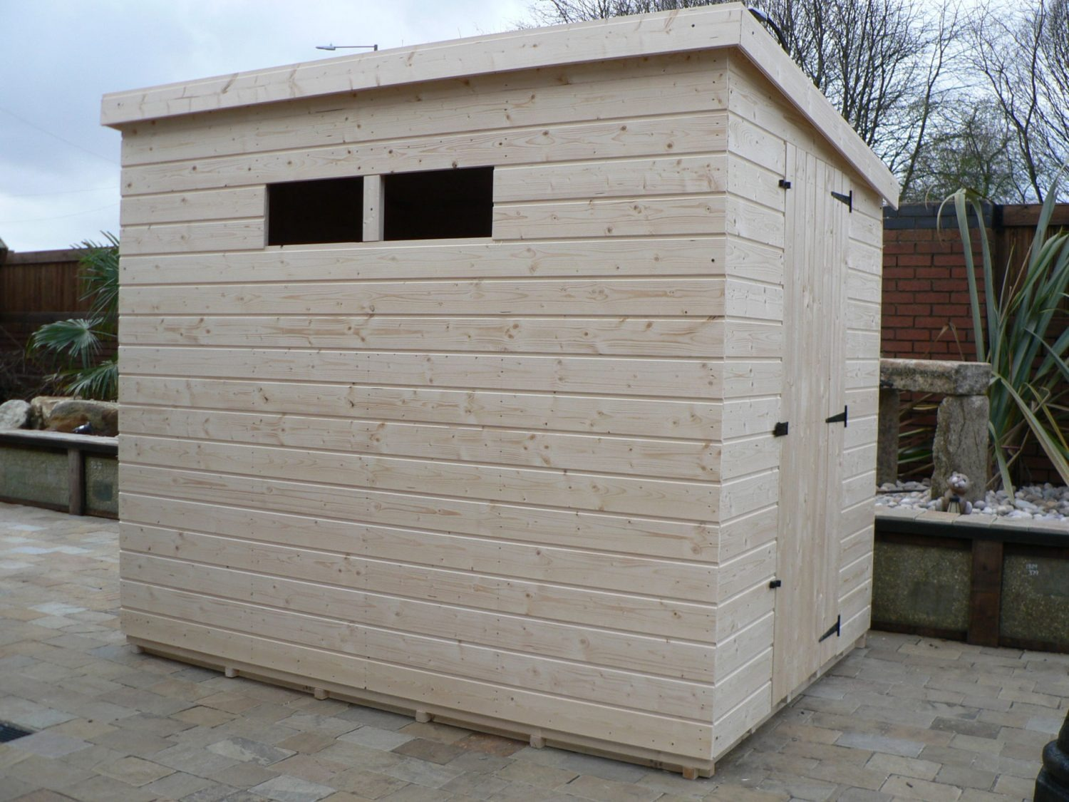 8' X 6' Pent Shed Security Windows